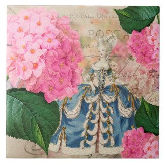 Baldosa cerámica del Hydrangea de Marie Antonieta
