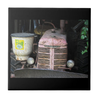 Baldosa cerámica del tractor de la impresión