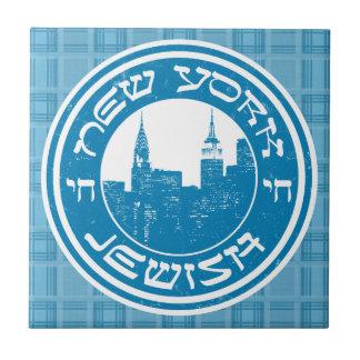 Baldosa cerámica judía de Nueva York