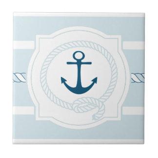 Baldosa cerámica náutica azul de las rayas de la