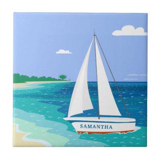 Baldosa cerámica tropical costera del velero del