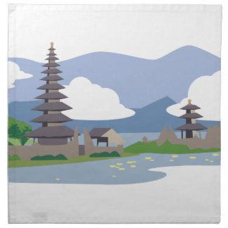 Bali hermoso servilleta de tela