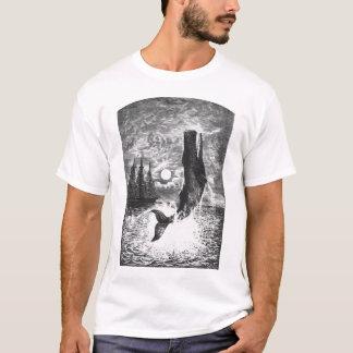 Ballena de esperma del vintage que viola, animales camiseta