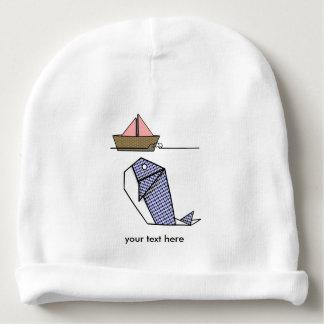 Ballena de papel doblada Moby Dick Gorrito Para Bebe