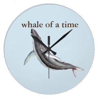 ballena de un reloj de tiempo