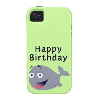 Ballena de una época - feliz cumpleaños iPhone 4/4S carcasa