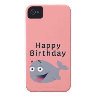 Ballena de una época - feliz cumpleaños iPhone 4 Case-Mate cárcasa