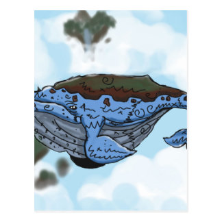 ballena del cielo postal