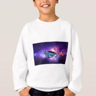 ballena del espacio sudadera