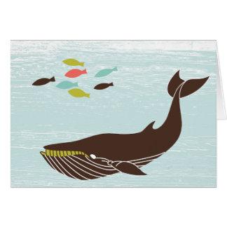 Ballena náutica toda la tarjeta de la ocasión
