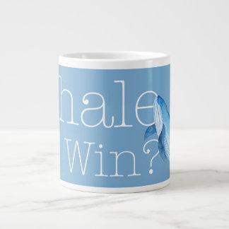 ¿Ballena que ganamos? taza en el azul de Carolina