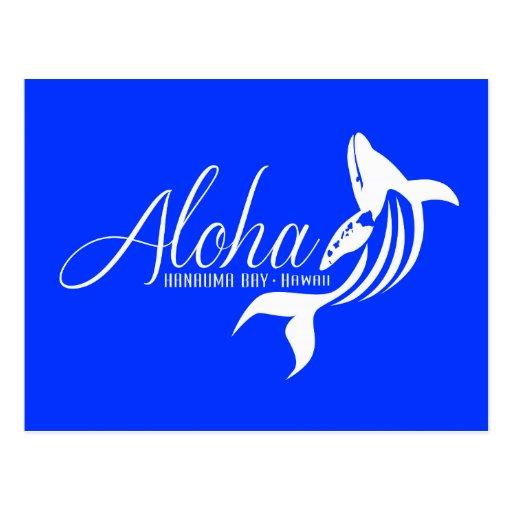 Ballenas de Hawaii de la hawaiana Postales