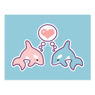 Ballenas lindas de la orca postal