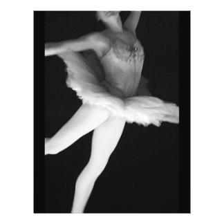 Ballet - danza - bailarina 9 - negro y blanco folleto 21,6 x 28 cm