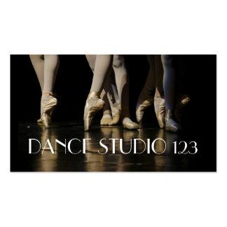 Ballet de las lecciones del estudio del instructor tarjetas de visita