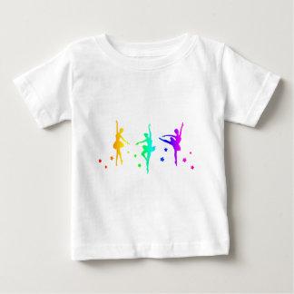 Ballet del arco iris camiseta de bebé