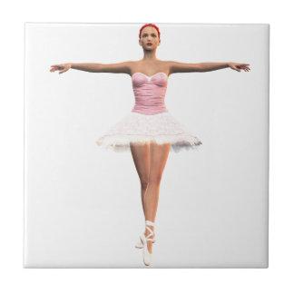 Ballet del En Pointe Azulejo Cuadrado Pequeño