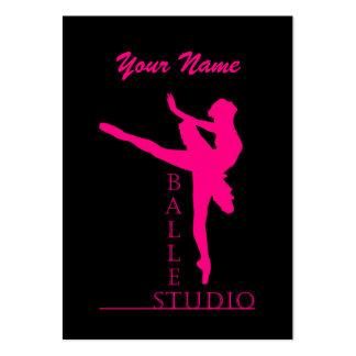 Ballet del estudio - negocio, tarjeta del horario plantillas de tarjeta de negocio