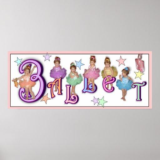 Ballet - impresión (fondo blanco) poster