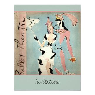 Ballet y teatro invitación 10,8 x 13,9 cm