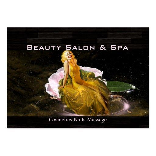 Balneario 1 de la belleza - negocio, tarjeta del h tarjetas de visita