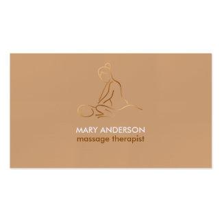 Balneario de cobre de la masajista de la terapia tarjetas de visita