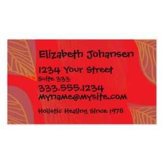 Balneario de la belleza del masaje que broncea del tarjetas de visita