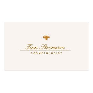 Balneario de la cosmetología y abeja elegantes tarjetas de visita