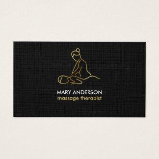 Balneario de la masajista de la terapia del masaje tarjeta de negocios