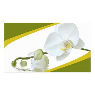 Balneario de la orquídea tarjetas de visita