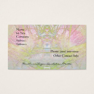 Balneario del árbol de seda y tarjeta del perfil