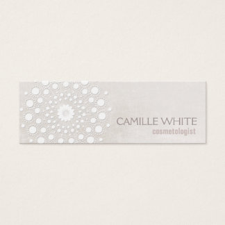 Balneario elegante de la textura de marfil blanca tarjeta de visita mini