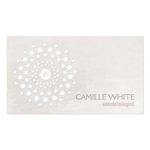 Balneario elegante de la textura de marfil blanca tarjetas de visita