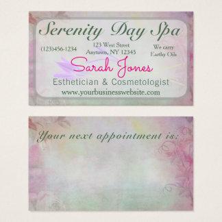 Balneario en colores pastel profesional floral tarjeta de negocios