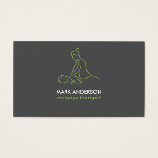 Balneario gris de la masajista de la terapia del tarjeta de negocios