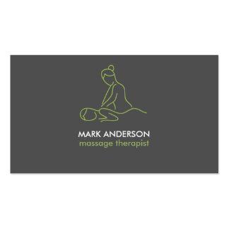 Balneario gris de la masajista de la terapia del tarjetas de visita