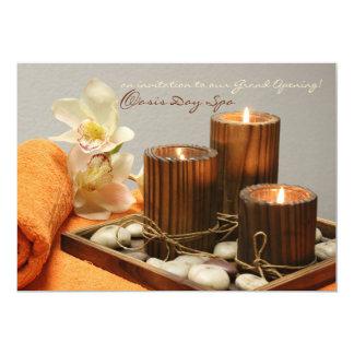 Balneario, masaje, invitación de la relajación invitación 12,7 x 17,8 cm