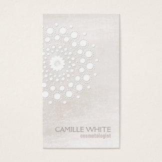 Balneario natural y orgánico del rosetón blanco de tarjeta de visita