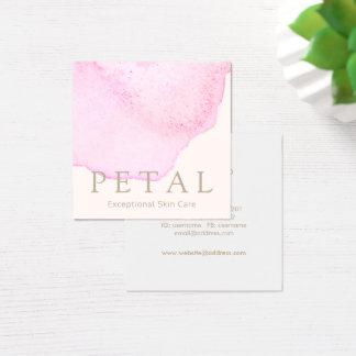 Balneario rosado elegante del cuidado de piel del tarjeta de visita cuadrada