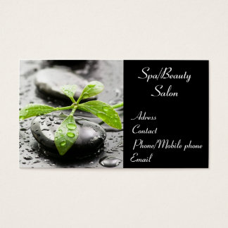 Balneario/tarjeta de visita del salón de belleza tarjeta de negocios