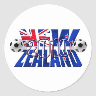 Balón 2010 de fútbol de Nueva Zelanda Etiquetas Redondas