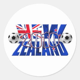 Balón 2010 de fútbol de Nueva Zelanda Pegatina Redonda