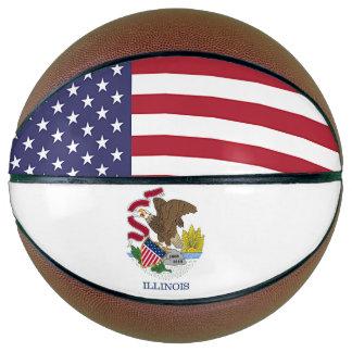 Balón De Baloncesto Baloncesto el de tamaño natural con la bandera de