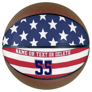 Balón De Baloncesto Baloncesto personalizado de la bandera americana,