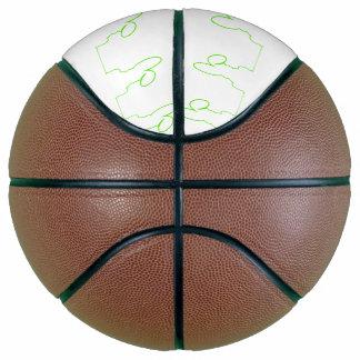 Balón De Baloncesto Contorno de una liebre verde clara