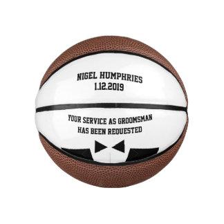 Balón De Baloncesto El mejor hombre o padrino de boda invita a mini