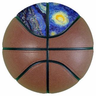 Balón De Baloncesto La noche estrellada Van Gogh inspiró baloncesto