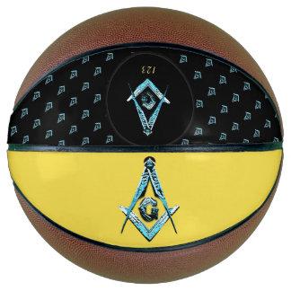 Balón De Baloncesto Mentes masónicas (azul brillante)