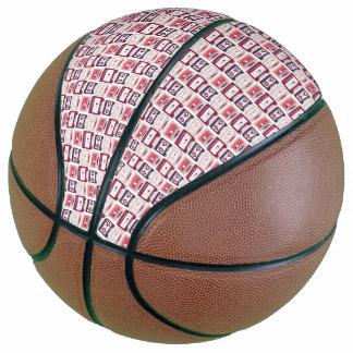 Balón De Baloncesto Modelo retro fresco del vector de los casetes del