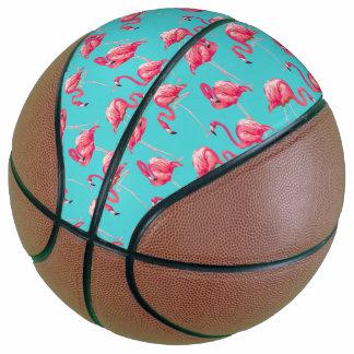 Balón De Baloncesto Pájaros rosados del flamenco en fondo de la